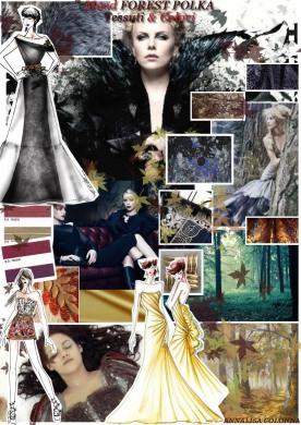 Mood e disegni FOREST POLKA con tessuti & colori - A Colonna
