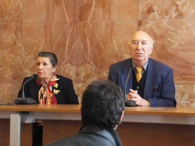 Il regista Giuliano Montaldo e sua moglie Vera Pescarolo Montaldo alla conferenza stampa Bifest 2012 de L'industriale