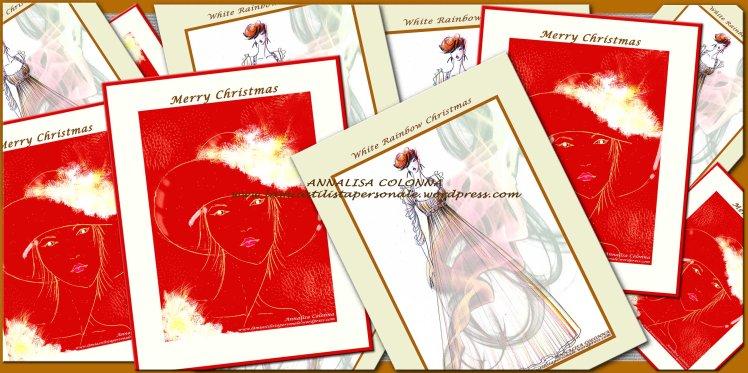 Gli inviti e i biglietti d'auguri natalizi di Annalisa Colonna
