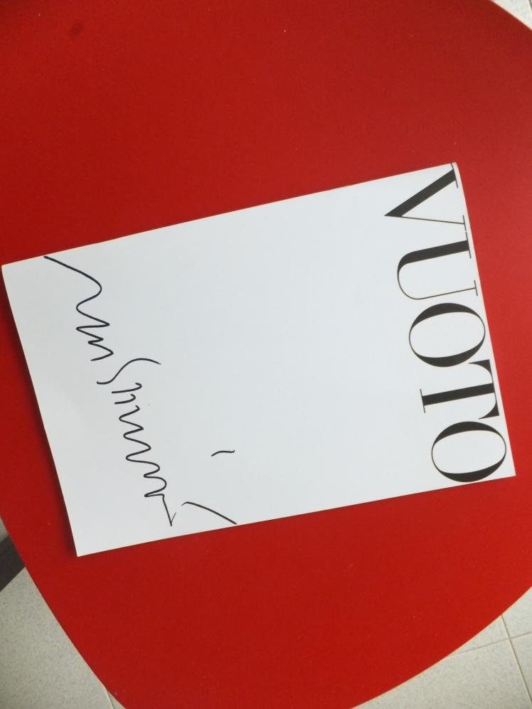 Il catalogo della mostra Vuoto