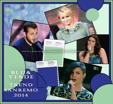 BLU & VERDE - Trend Sanremo 2014 by Annalisa Colonna