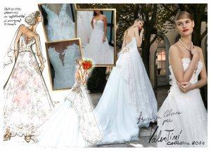Tav abito Valentini Spose disegnato da Annalisa Colonna