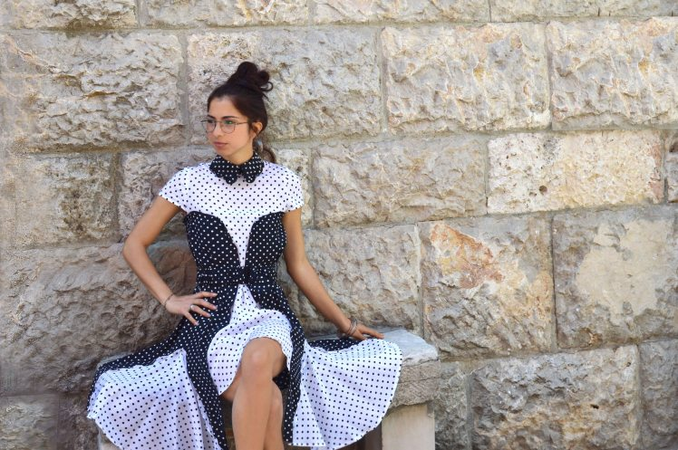 WHI BLACK DRESS ANNALISA COLONNA SHOOTING ALTAMURA CENTRO STORICO low